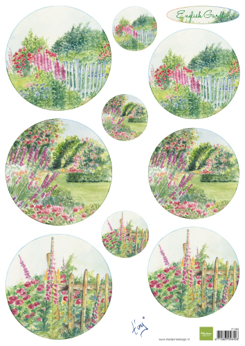 IT592 Arkusz A4 -Marianne Design - English Garden - Roses
