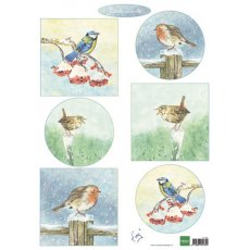 IT605 Arkusz A4 -Marianne Design - Tiny's birds in winter