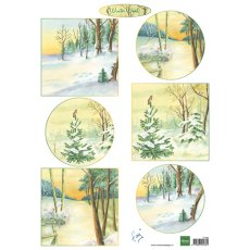 IT606 Arkusz A4 -Marianne Design - Tiny's winter wood