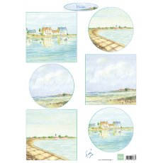 IT610 Arkusz A4 - Marianne Design - Tiny's Harbors - Port