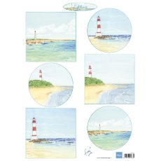 IT611 Arkusz A4 - Marianne Design - Tiny\'s Light houses - Latarnia morska