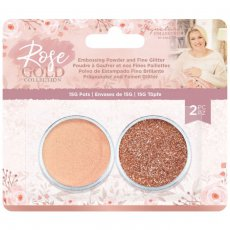 S-RG-EMB-FIGL Zestaw -puder do embossingu i sypki brokat Rose Gold