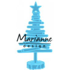 LR0492 Wykrojnik Marianne Design -Tiny's choinka-drewniana