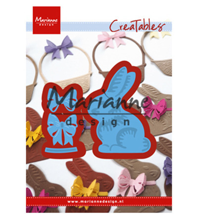 LR0519 Wykrojnik Craftable -Easter bunny with bow-zajączek