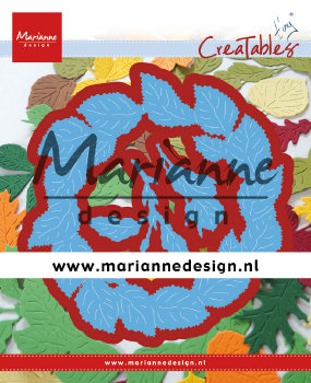 LR0624 Wykrojnik - Marianne Design - Tiny\'s Leaves Wreath