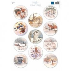 MB0186 Arkusz A4 - Marianne Design - Mattie's minies winter