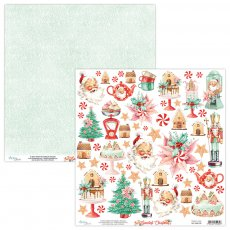 MT-SWE-09 THE SWEETEST CHRISTMAS 09- MINTAY - papier dwustronny z elementami 30,5x30,5cm5