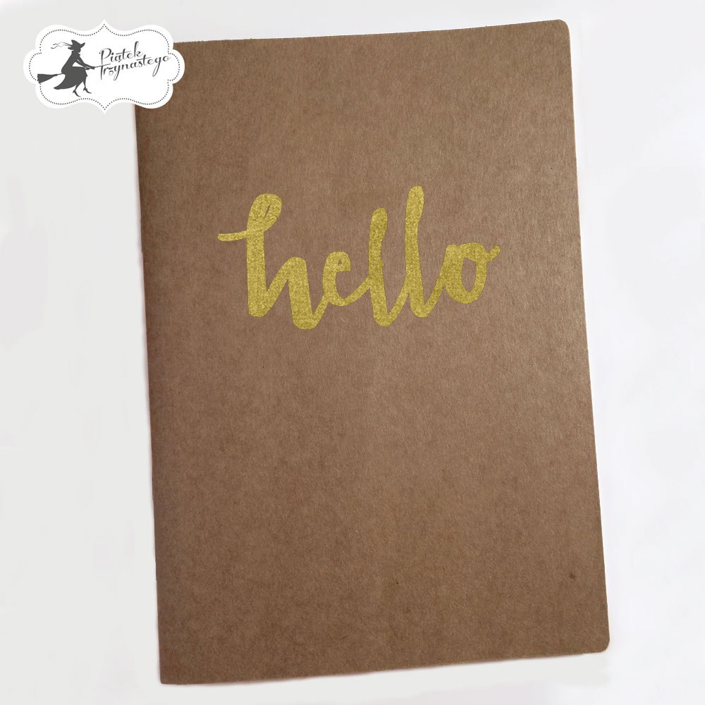 P13-156 Art journal A5 Hello (kraft)