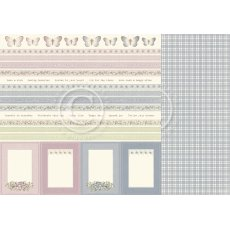 PD10011 Papier dwustronny 30,5x30,5cm-Borders-Days Gone By