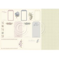 PD10012 Papier dwustronny 30,5x30,5cm-Tags- Days Gone By