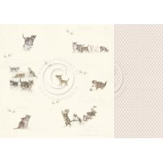 PD12005 Papier dwustronny 30,5x30,5cm-Leaving pawprints ? Our Furry Friends