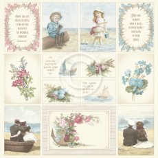 PD1635 Papier jednostronny 30,5x30,5cm-Seaside Stories I -Images from the Past