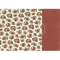 PD20005 Papier dwustronny 30,5x30,5cm -Let`s be Jolly-  Christmas florals