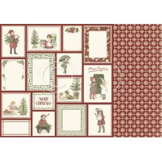 PD20011 Papier dwustronny 30,5x30,5cm -Let`s be Jolly- Christmas memories