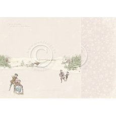 PD22002 Papier dwustronny 30,5x30,5cm -Winter Wonderland-Winter fun