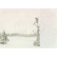 PD22003 Papier dwustronny 30,5x30,5cm -Winter Wonderland-Winter morning