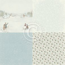 PD23001 Papier jednostronny 6x6'' -Winter Wonderland-Snow day