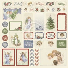 PD30016 Papier jednostronny 30,5x30,5cm  - Cut outs II -A Christmas to remember