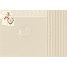 PD6809 Papier dwustronny 30,5x30,5cm-To my Valentine-Forever yours