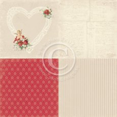 PD6901 Papier jednostronny- To my Valentine - 6x6- In My Heart