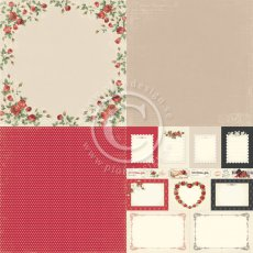 PD6905 Papier jednostronny- To my Valentine - 6x6-Roses of Love