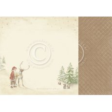 PD9806 Papier dwustronny 30,5x30,5cm-Christmas Wishes-Santa's friends