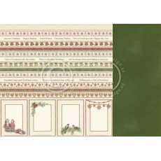 PD9811 Papier dwustronny 30,5x30,5cm-Christmas Wishes-Borders