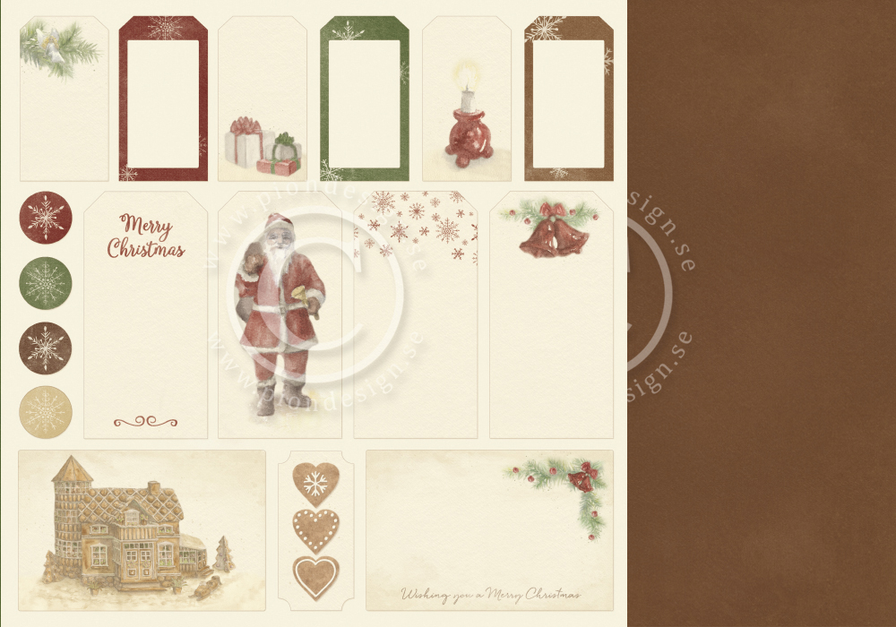 PD9812 Papier dwustronny 30,5x30,5cm-Christmas Wishes-Tags
