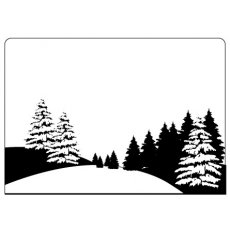 CTFD4008 Folder do embossingu Pine Tree Scene