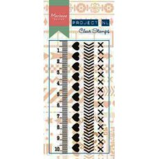PL1503 Stamps Borders to project life - Serca