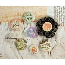 PM572716 Flair Buttons i stempel akrylowy - Princess