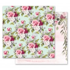 PM849252 Papier dwustronny metaliczny 30,5x30,5cm - Misty Rose - Flowers For Her
