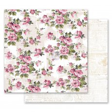 PM849276 Papier dwustronny metaliczny 30,5x30,5cm - Misty Rose - The Memorable Floral Wall