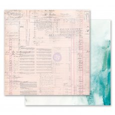 PM849290 Papier dwustronny metaliczny 30,5x30,5cm - Misty Rose - The Untold Story