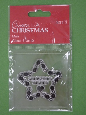 "PMA907002-4 STEMPEL Docrafts - Gwiazdka ""CHRISTMAS WISHES"""