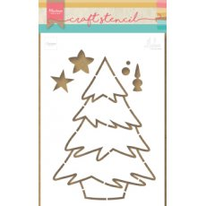 PS8046 Maska - Marianne Design - Christmas Tree by Marleen - choinka