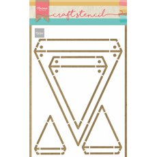 PS8082 Maska Marianne Design - Craft stencil - A5 - Flags - flagi, baner