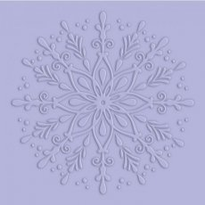 S-GS-EF6-FREL Folder do embossingu Glittering Snowflakes - Frosted Eleg 15,2x15,2 cm