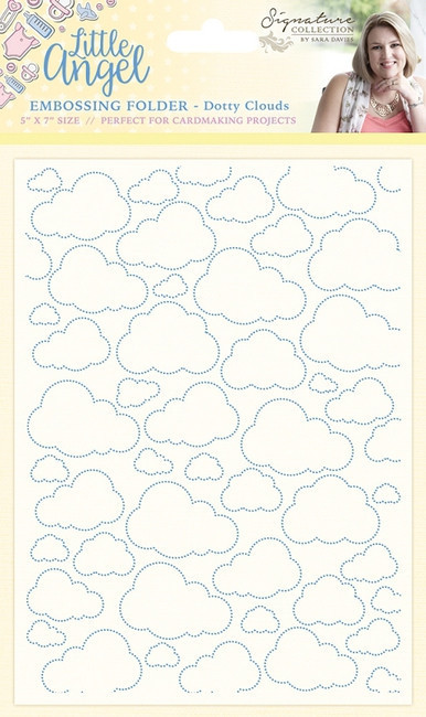S-LA-EF5-CLO Folder do embossingu Little Angel - Dotty Clouds - chmurki