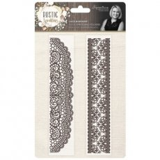 S-RW-EF-LABO Foldery do embossingu Rustic Wedding-Lace Borders-2szt