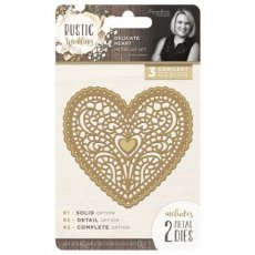 S-RW-MD-DH Wykrojnik Rustic Wedding - Delicate Heart