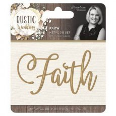 S-RW-MD-FAITH Wykrojnik Rustic Wedding - Faith