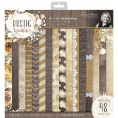 S-RW-PAD12 Zestaw papierow 30x30 Rustic Wedding