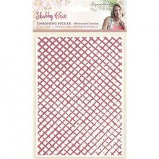 S-SC-EF5-DLATT Folder do embossingu Shabby Shic-Distressed Lattice