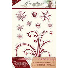 S-SX-ST-FLA Stemple -Scandinavian Christmas-Flakes and Swirls