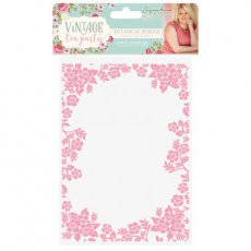 S-VTP-EF5-BB Folder Vintage Tea Party - Botanical Border