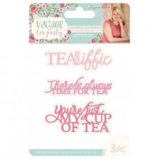 S-VTP-MD-TEAS Wykrojniki Vintage Tea Party - Teariffic Sentiments
