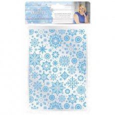 S-WW-EF5-FSF Folder do embossingu Winter Wonderland - Fluttering Snowflakes 5X7""