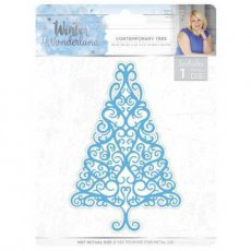 S-WW-MD-CT Wykrojnik Winter Wonderland - Contemporary Tree-choinka