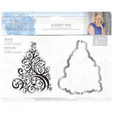 S-WW-MDS-ELTR Stempel+wykrojnik Winter Wonderland - Elegant Tree